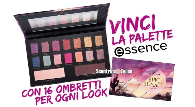 Vinci gratis palette Epic Sunset di essence con Silhouette Donna