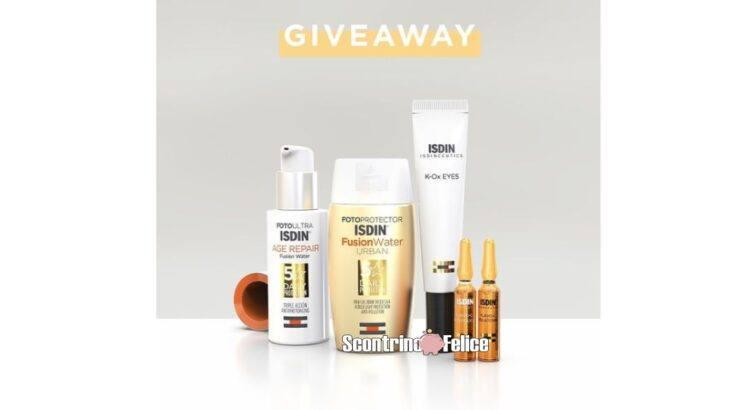 Partecipa al nuovo giveaway gratuito ISDIN e prova a vincere una delle 3 Beauty Routine da sogno!