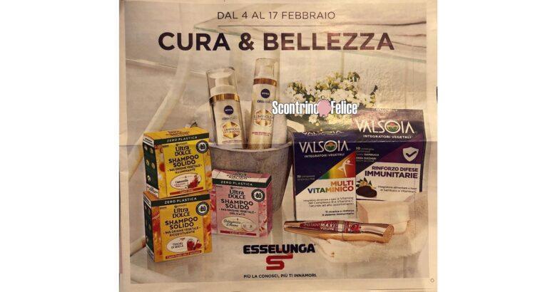 Anteprima Nuovo Volantino Esselunga cura&bellezza dal 4-02 al 17-02 2021