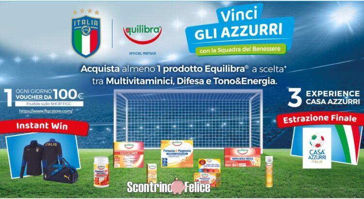 concorso a premi Equilibra Vinci Gli Azzurri Con La Squadra Del Benessere