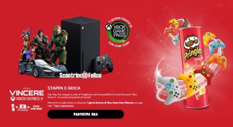 Concorso Pringles vinci console Xbox Series X