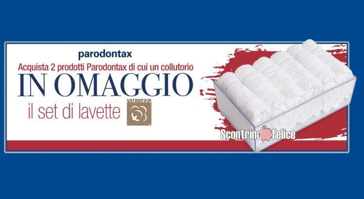 parodontax set lavette cotonificio italiano premio sicuro