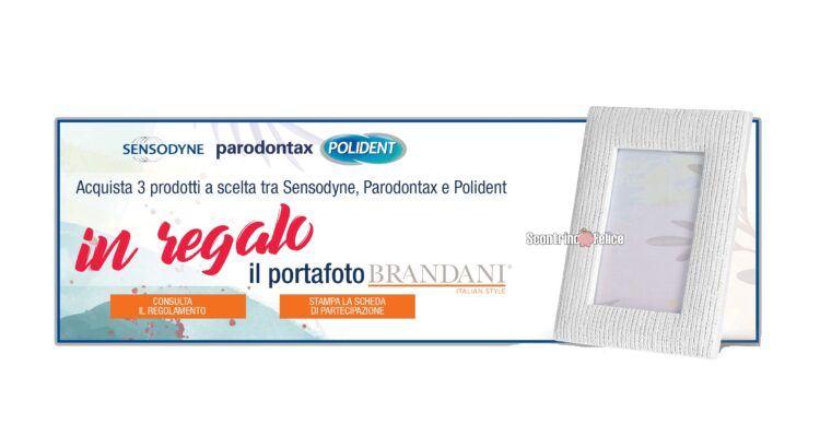 Sensodyne Parodontax Polident ti regalano il portafoto Brandani come premio certo