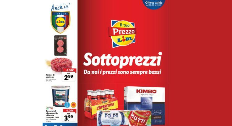 Anteprima Volantino Offerte Lidl valido dal 22-02 al 28-02 2021