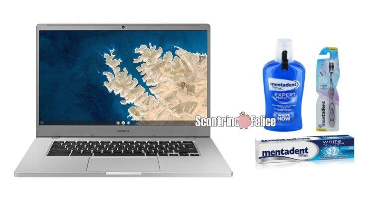 Concorso Mentadent L'educazione è la migliore prevenzione vinci Notebook Samsung Chromebook 4+