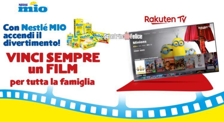 Nestlè Mio Il mio film ricevi codice Rakuten Tv come premio sicuro