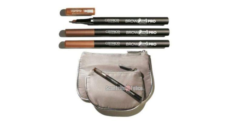 Affari in Edicola Catrice Brow Comb Pro Micro Pen per sopracciglia + 2 pochette con Grazia