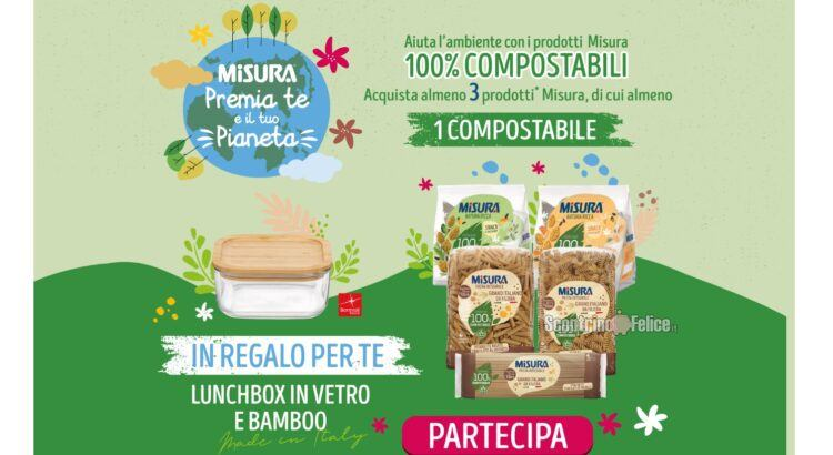 Misura Premia Te E Il Tuo Pianeta LunchBox Frigoverre Bamboo Rocco Bormioli come premio certo