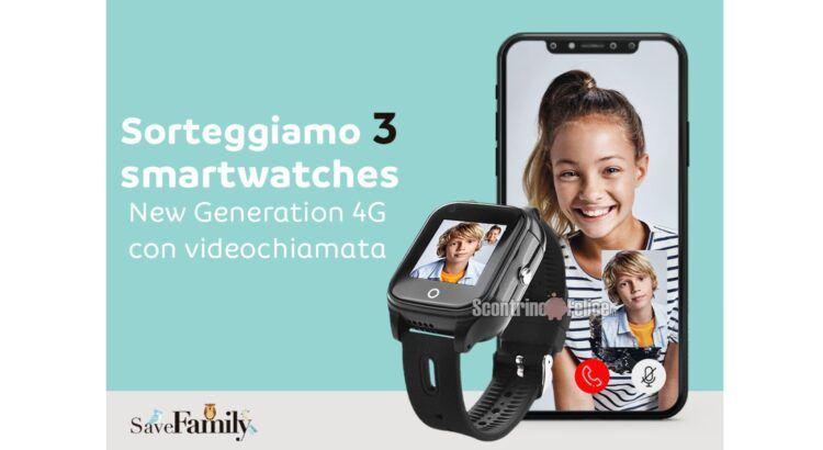 Vinci gratis 3 Smartwatch New Generation 4G con videochiamata con Mayoral