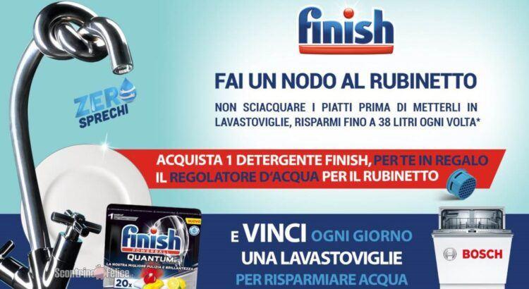 Concorso Finish Fai Un Nodo Al Rubinetto vinci Lavastoviglie Bosch