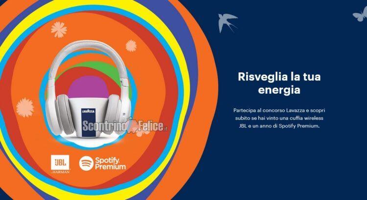 Concorso Lavazza Risveglia La Tua Energia vinci spotify e JBL