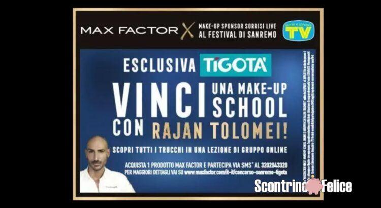 Concorso Max Factor da Tigotà vinci Make-Up School Online con Rajan Tolomei