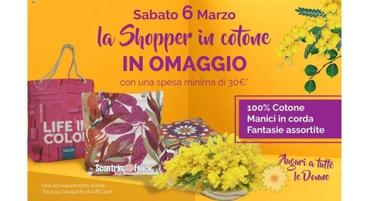 Omaggio Borsa Shopper Tigotà Festa della donna Marzo 2021