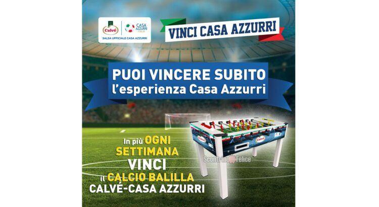 Concorso Calvè Tifo Di Gusto in palio Esperienze Casa Azzurri Gift Card per partite on demand e CalcioBalilla