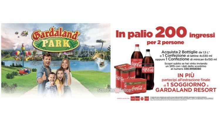 Concorso Coca Cola vinci Gardaland