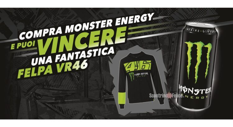 Concorso Monster Energy vinci 30 Felpe VR46