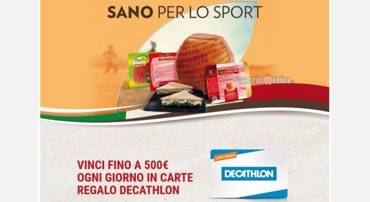 Concorso Rovagnati Sano per lo sport vinci Carte Regalo Decathlon e Abbonamenti Gazzetta dello Sport