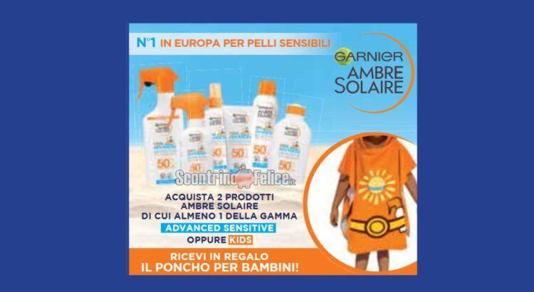 Garnier Ambre Solaire ricevi il poncho mare per bambini come premio certo