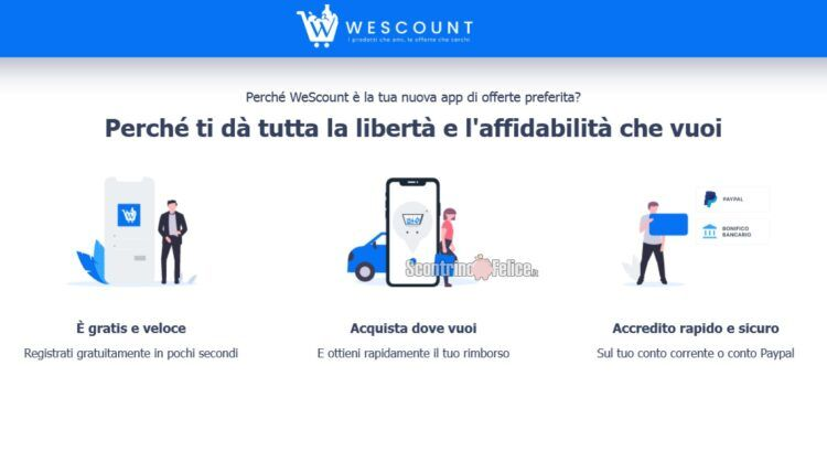 WeScount app per risparmiare sulla spesa