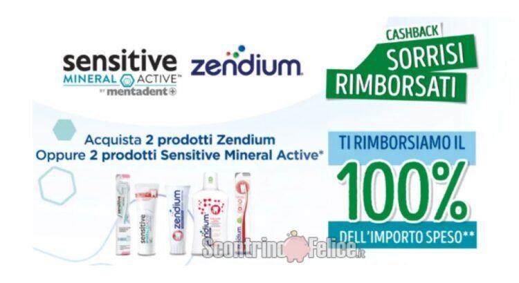 Cashback Mentadent e Zendium Sorrisi Rimborsati ricevi il rimborso del 100%