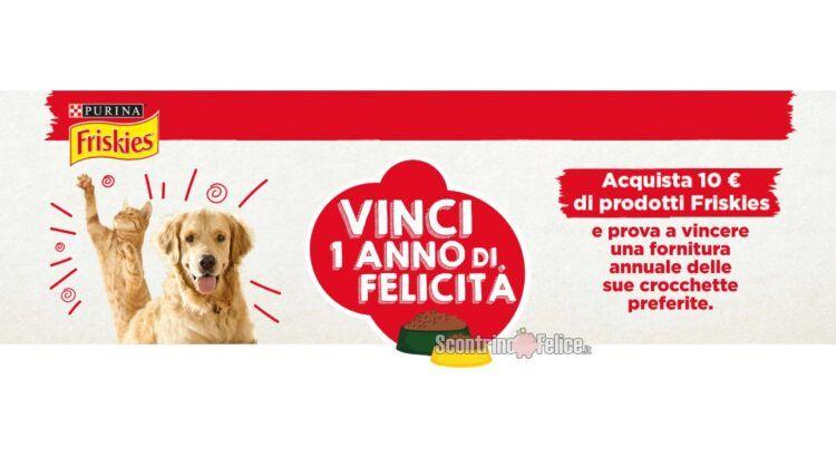 Concorso Friskies Vinci un anno di felicità in palio Forniture di prodotti annuali per cane e gatto