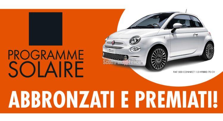 Concorso Programme Solaire Abbronzati e Premiati vinci una Fiat 500 Hybrid