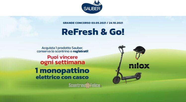 Concorso Sauber Refresh e Go vinci monopattini elettrici Doc 8 five con casco Nilox