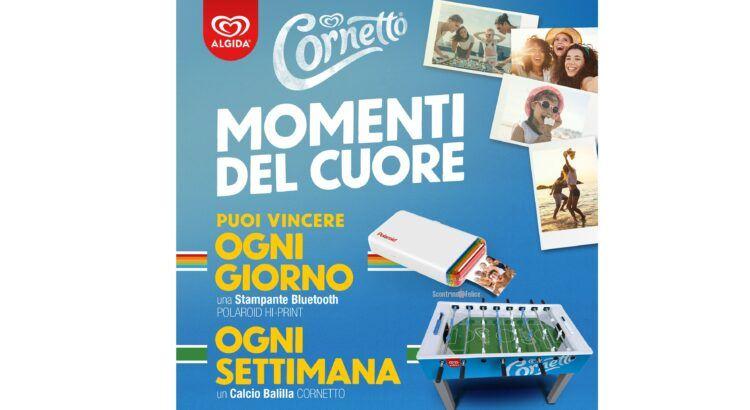 Concorso Cornetto momenti del cuore in palio stampanti Polaroid Hi Print e Calcio Balilla