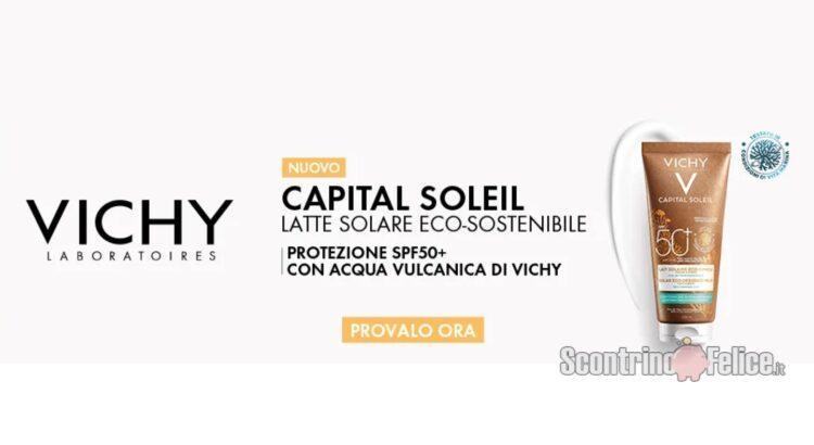 Diventa tester del nuovo latte solare eco-sostenibile Capital Soleil SPF50+ di Vichy