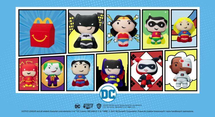 Peluche DC Heores Justice League in regalo con Happy Meal da McDonald's