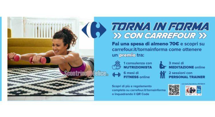 premio certo TORNA IN FORMA CON CARREFOUR