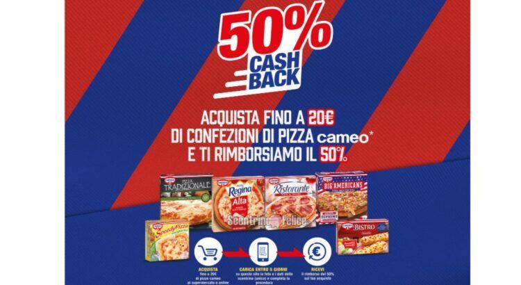 Cashback Pizze Cameo Lasciami Tifare rimborso del 50%