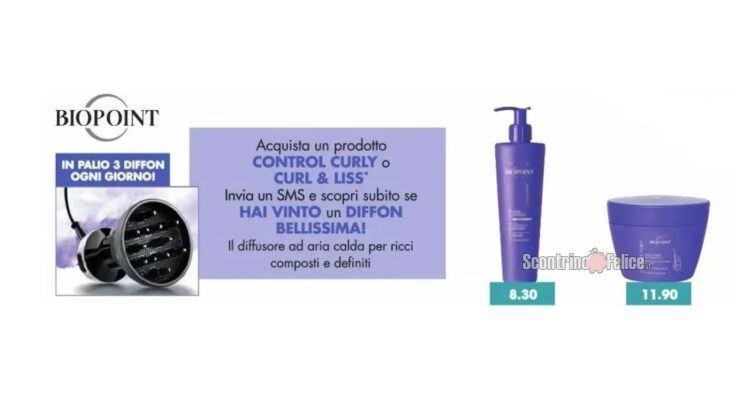 Concorso CONTROL your CURLY con BIOPOINT da Tigotà vinci diffusori Imetec Bellissima DIFFON DF1 1000
