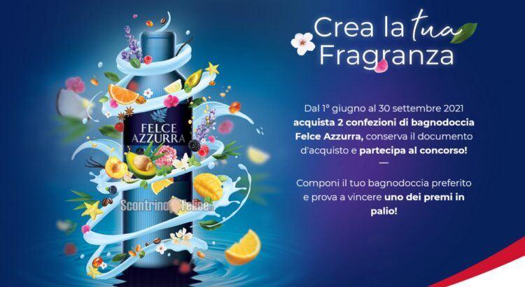 Concorso Felce Azzurra Crea la tua fragranza vinci buoni spesa da 100 euro e una Fiat 500 Hybrid