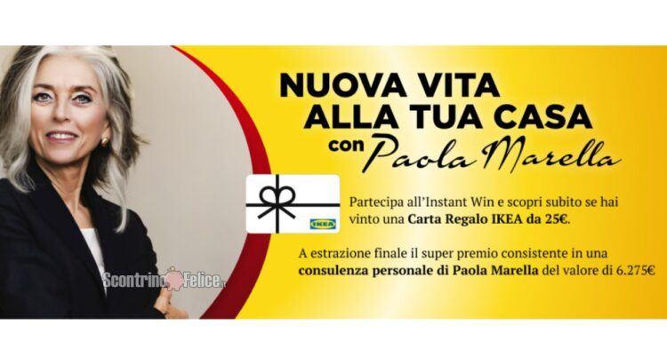 Concorso gratuito Nuova vita alla tua casa vinci Carte Regalo IKEA da 25€ e una consulenza di Paola Marella per il restyling di una stanza di casa