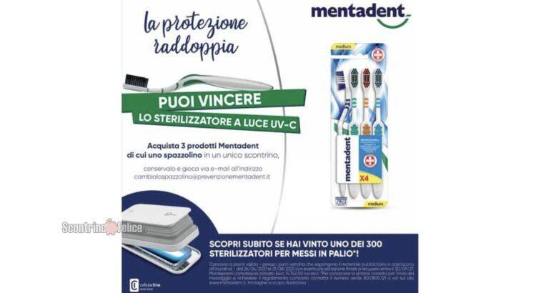 Concorso Mentadent vinci 300 sterilizzatori per smartphone