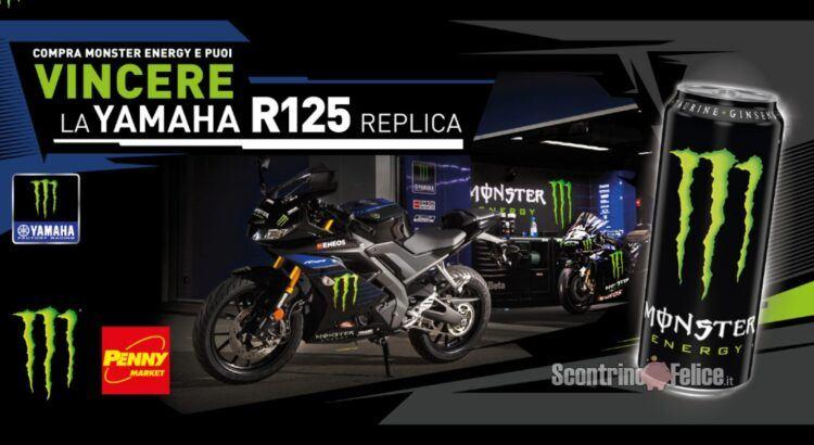 Concorso Monster Energy da Penny Market vinci 1 moto Yamaha R125 Replica
