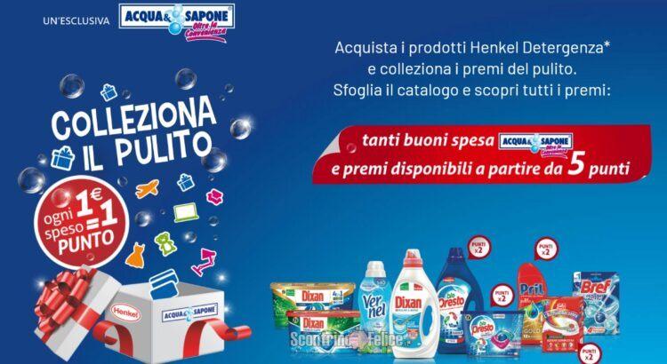 Henkel Colleziona il pulito 2021 da Acqua e Sapone raccolta punti