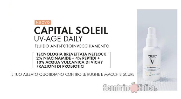 Richiedi il campione omaggio di Capital Soleil UV-AGE SPF 50+ di Vichy