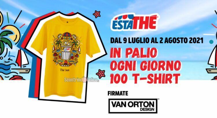 Concorso Estathè in palio 100 t-shirt ogni giorno firmate Van Orton Design
