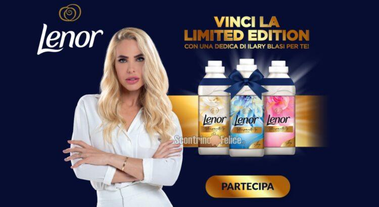 Concorso Lenor Limited Edition vinci 460 forniture con dedica di Ilary Blasi