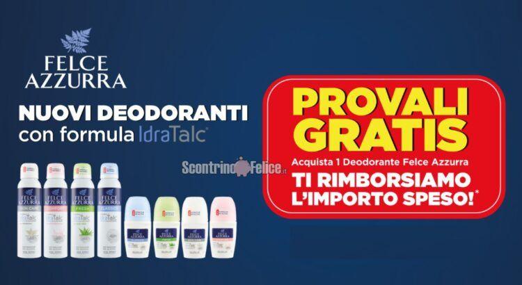 Prova gratis Felce Azzurra rimborso deodorante