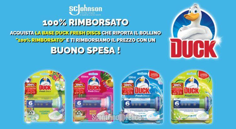 100% Rimborsato Duck Fresh Discs: ricevi il rimborso di 1 confezione con buono spesa generico