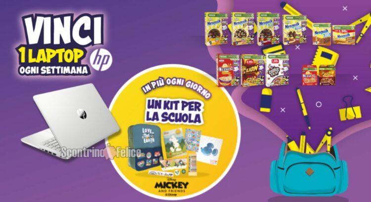 """Concorso """"A Scuola Con Cereali Nestlé"""": vinci Laptop HP e Kit Scuola Disney"""
