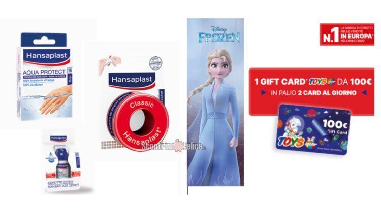 Concorso Hansaplast ti fa giocare: in palio 184 Gift card digitali Toys Center e Bimbostore da Euro 100,00