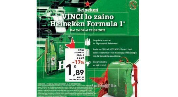 Concorso Heineken: vinci uno zaino Formula 1