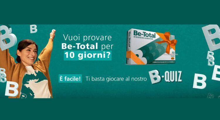 Be-Total: ricevi un campione gratuito per 10 giorni