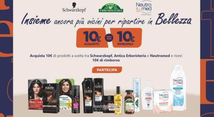 Cashback Henkel Beauty Care (Schwarzkopf, Antica Erboristeria e Neutromed): spendi e riprendi 10 euro!