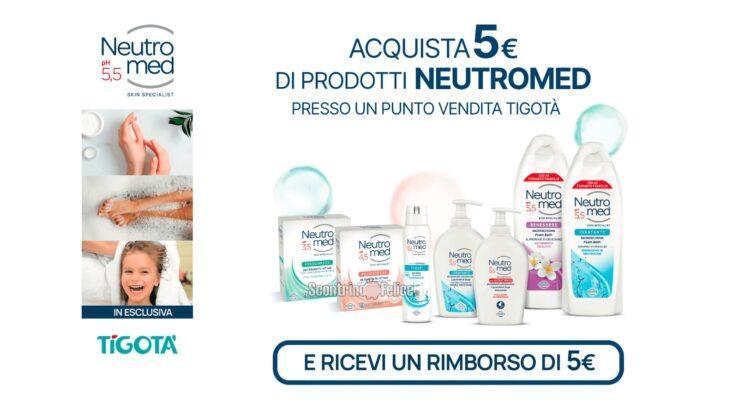 Cashback Neutromed da Tigotà: spendi e riprendi 5 euro!
