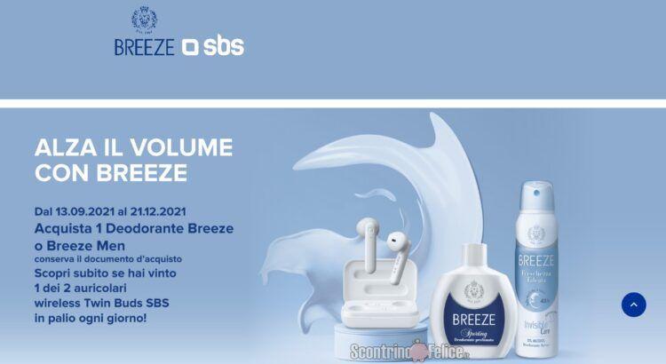 Concorso Alza il volume con Breeze vinci Auricolari SBS wireless Twin Buds